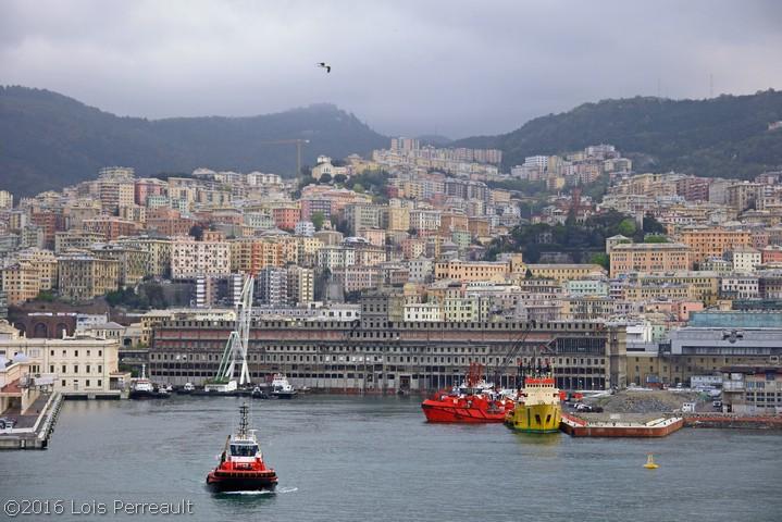 Lois Perreault. Port of Genoa, Italy